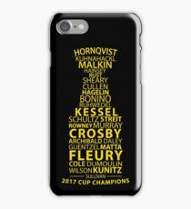 Stanley Cup Champs 2017 Gold iPhone Case/Skin