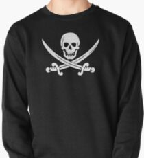 Calico Jack Pirate Flag T-Shirt - White Pullover