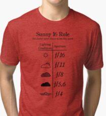 Sunny 16 Rule - Black Tri-blend T-Shirt