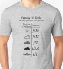 Sunny 16 Rule - Black Slim Fit T-Shirt