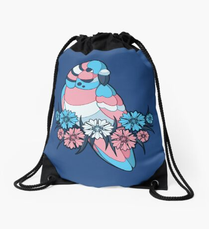 Pride Birds - Transgender Drawstring Bag