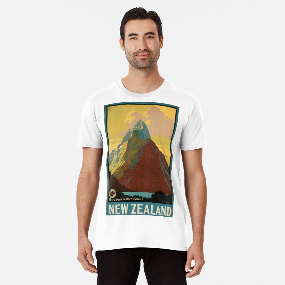 Cartel vintage - Nueva Zelanda Camiseta premium
