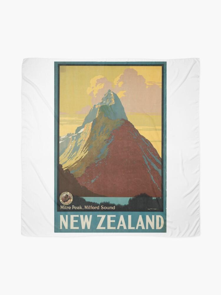 Vista alternativa de Pañuelo Cartel vintage - Nueva Zelanda