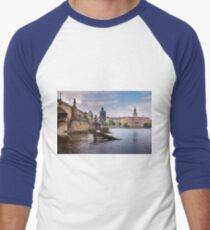 Prague, Czech Republic Men's Baseball ¾ T-Shirt