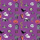 Halloween Purple Pattern by Elizabeth Levesque