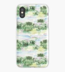 Abstract Watercolour Impressionist Landscape iPhone Case/Skin