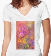 Fairy Garden 2 Women's Fitted V-Neck T-Shirt