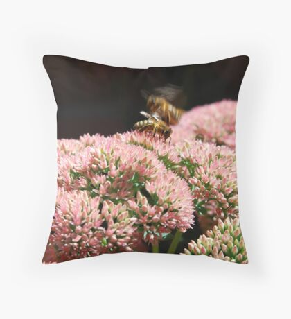 Worker Bees Throw Pillow
