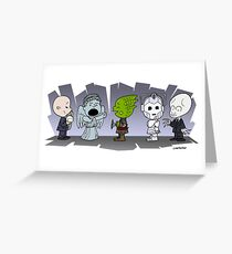 Doctor Who Monsters ... Peanuts Style Greeting Card