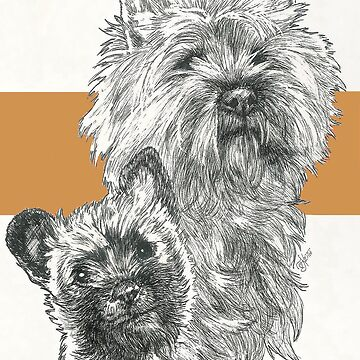 Cairn Terrier, Father & Son by BarbBarcikKeith