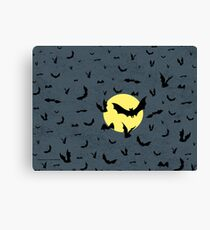 Bat Swarm Canvas Print