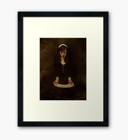 Let's discuss your sins... Framed Print