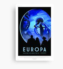 Europa - NASA/JPL Travel Poster Canvas Print