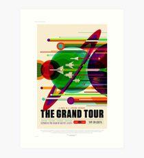 The Grand Tour - NASA/JPL Travel Poster Art Print