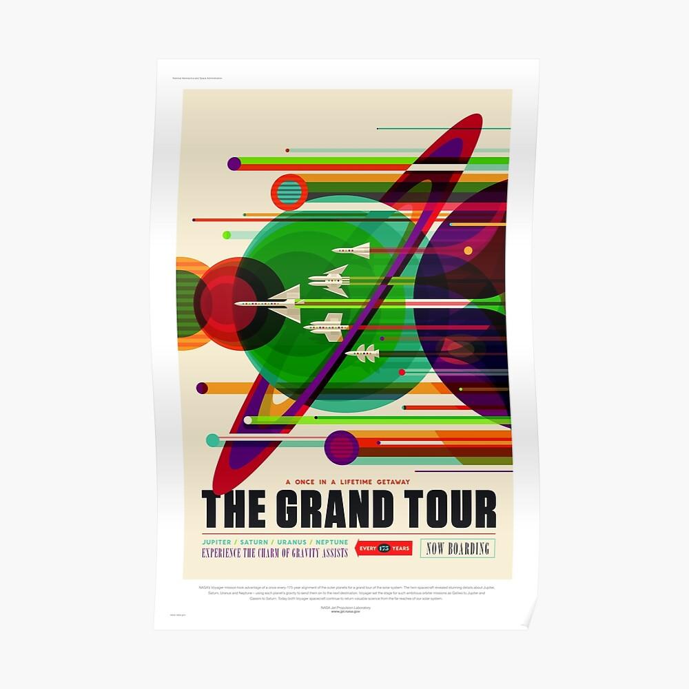 The Grand Tour - Cartel de viaje NASA / JPL Póster