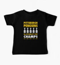 Pittsburgh Penguins 5x Champs Baby Tee