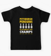 Pittsburgh Penguins 5x Champs Kids Tee