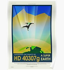 HD 40307g - NASA/JPL Travel Poster Poster