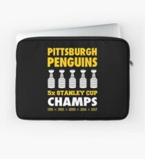 Pittsburgh Penguins 5x Champs Laptop Sleeve