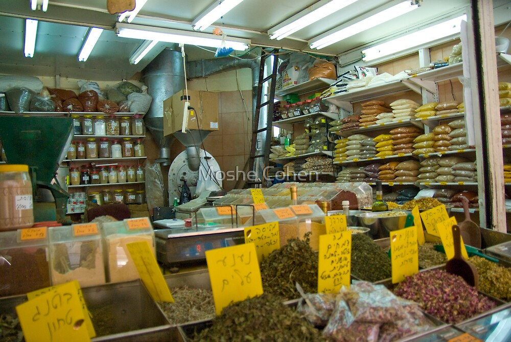 The spices shop by Moshe Cohen