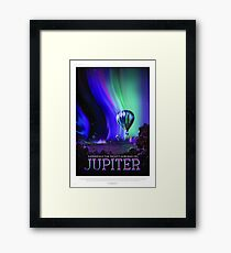 Jupiter - NASA/JPL Travel Poster Framed Print