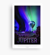 Jupiter - NASA/JPL Travel Poster Canvas Print