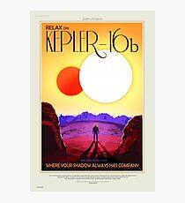 Kepler-16b - NASA/JPL Travel Poster Photographic Print