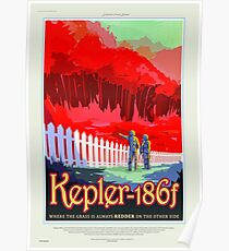 Kepler-186f - NASA/JPL Travel Poster Poster