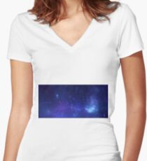 X-ray of the Milky Way Women's Fitted V-Neck T-Shirt