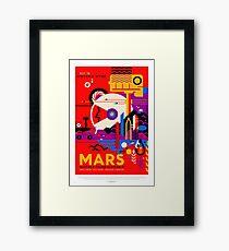 Mars - NASA/JPL Travel Poster Framed Print