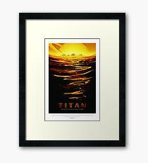 Titan - NASA/JPL Travel Poster Framed Print