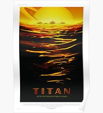 Titan - NASA/JPL Travel Poster Poster