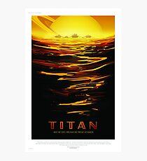 Titan - NASA/JPL Travel Poster Photographic Print