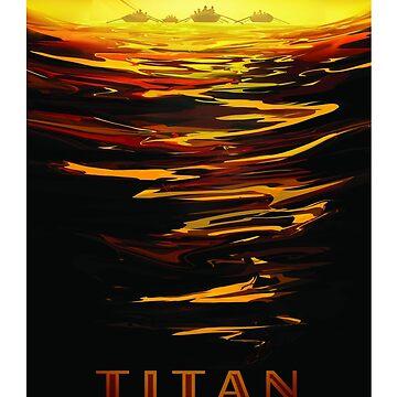 Titan - NASA/JPL Travel Poster by robertpartridge