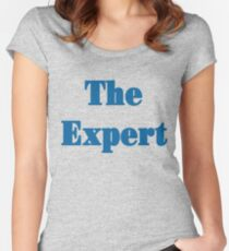the expert blue Women's Fitted Scoop T-Shirt