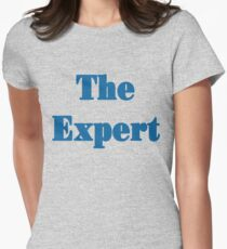 the expert blue Womens Fitted T-Shirt