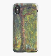 Weeping Willow by Claude Monet iPhone Case/Skin