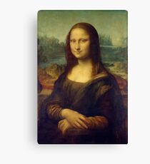 mona lisa digital render Canvas Print
