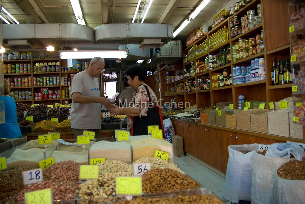 The dry fruits shop by Moshe Cohen