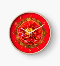 Marigold Cottage Red Flower Clock