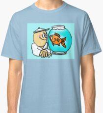 Kid with Pet Goldfish Classic T-Shirt