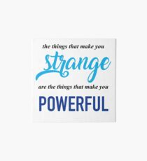 """""""The Things That Make You Strange Are the Things that Make You Powerful"""" Ben Platt Acceptance Speech  Art Board"""