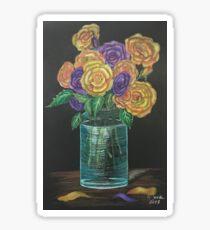 roses in jar  Sticker