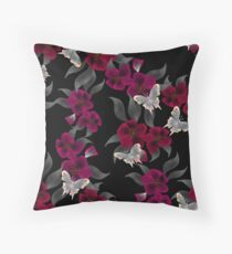 Seamless floral pattern background flowers ornament wallpaper textile Illustration Throw Pillow