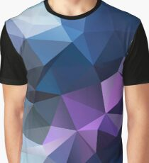 Abstract print geometrical pattern of triangles polygon. Fabric design in bright colors Graphic T-Shirt