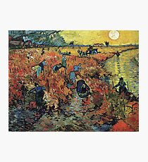 The Red Vineyard by Vincent van Gogh Photographic Print