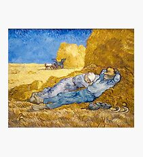 Noon – Rest from Work (after Millet) by Vincent van Gogh Photographic Print