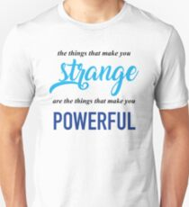 """The Things That Make You Strange Are the Things that Make You Powerful"" Ben Platt Acceptance Speech  Unisex T-Shirt"