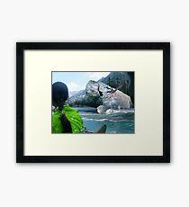 The Saiful Muluk lake Monster Framed Print