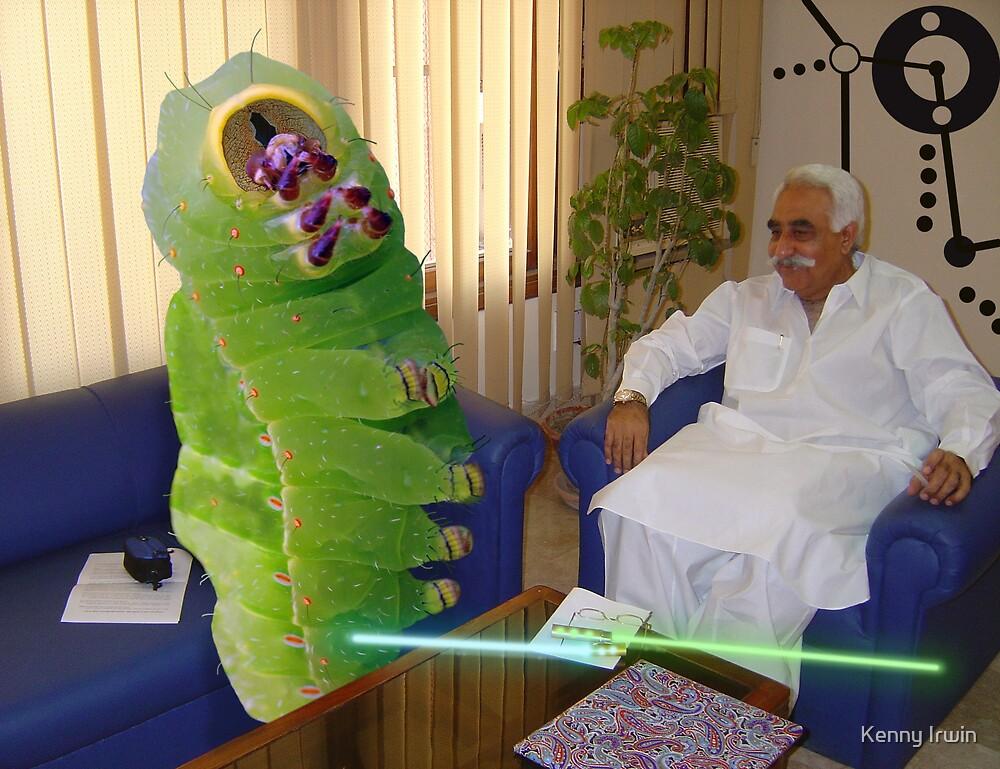 Inventor Bashir Reveals a new anti-dOve weapon to Beetlepillar Slugwasp by Kenny Irwin